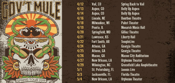 Gov't Mule Spring Tour On Sale Now!