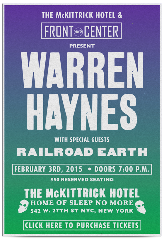Warren Haynes with special guests Railroad Earth